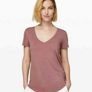 Muted Pink v-neck